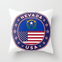 Nevada, USA States, Nevada t-shirt, Nevada sticker, circle Throw Pillow