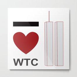 I love WTC Metal Print