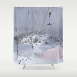 Empty T-lifts Shower Curtain