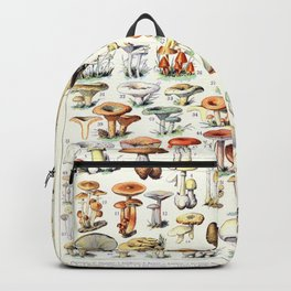 Adolphe Millot - Champignons B - French vintage poster Backpack