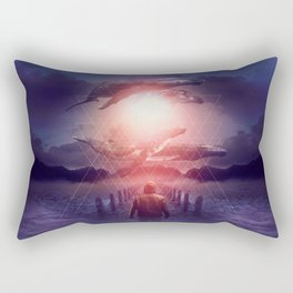 The Space Between Dreams & Reality Rectangular Pillow