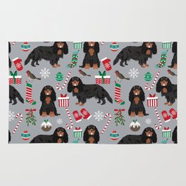 Cavalier King Charles Spaniel black and tan christmas dog gifts pet friendly Rug