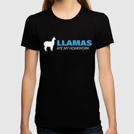 Llamas Ate My Homework - Good Llama Tee T-shirt