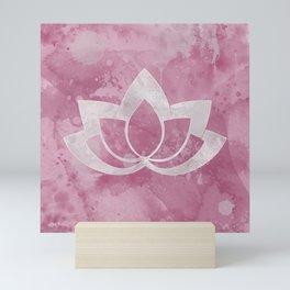 Lotus Flower on Pink Mini Art Print