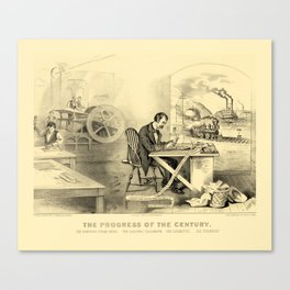 The Progress of the Century (Currier & Ives) Canvas Print