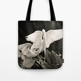 White bird dance 1 Tote Bag