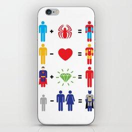 Super Math iPhone Skin