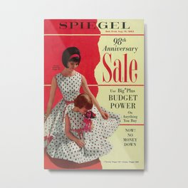 1963 - 98th Anniversary Sale -  Summer Catalog Cover Metal Print