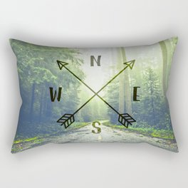 Compass in the Redwoods Rectangular Pillow