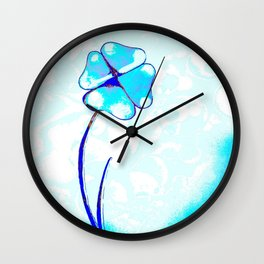 Morning flower Wall Clock