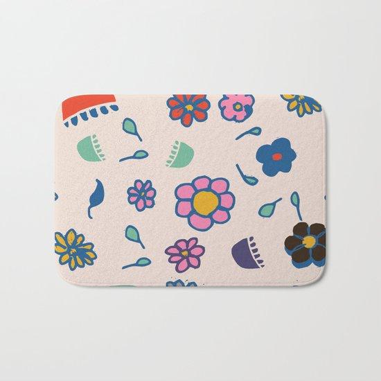 Floral spring Bath Mat