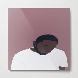 Kendrick Lamar Portrait Metal Print