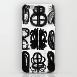 Abstract Charcoal Drawings iPhone Skin