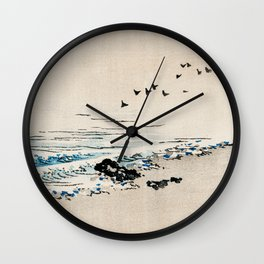 Beach Scenery Traditional Japanese Landscape Wall Clock