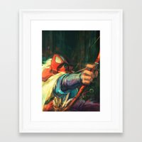 young avengers Framed Art Prints featuring The Young Man from the East by Alice X. Zhang