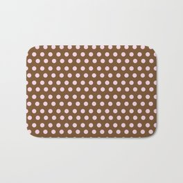 Pink & Brown dot Bath Mat