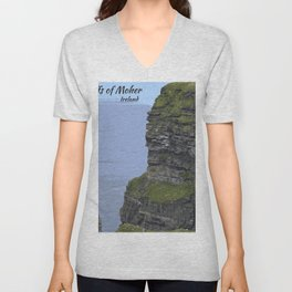 Cliffs of Moher Ireland  Unisex V-Neck