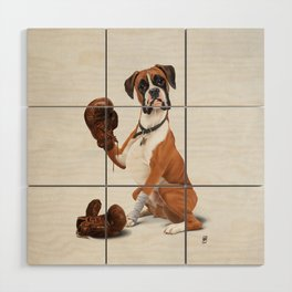 The Boxer (Wordless) Wood Wall Art