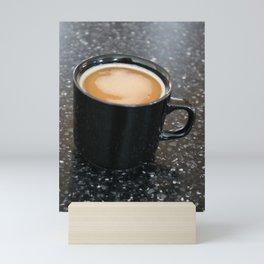 Coffee in a black mug 2 Mini Art Print