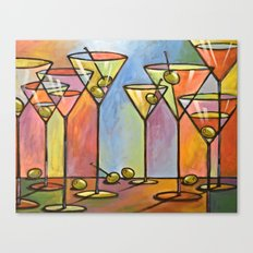 Martini Bar ... Abstract alcohol lounge bar kitchen art Canvas Print