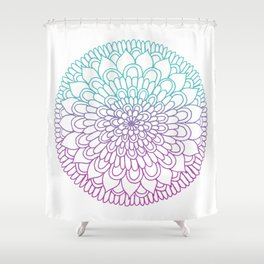 Equanimity / Petals / Pink Blue Shower Curtain