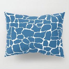 Classic Blue Giraffe Pillow Sham