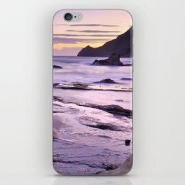 Purple Sunset At Vela Blanca Tower iPhone Skin
