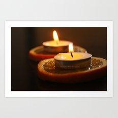 Orange Candles Art Print