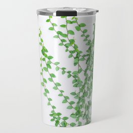 Green creepers climbing the wall Travel Mug