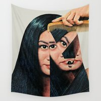 portrait Wall Tapestries featuring Normalization by Eugenia Loli