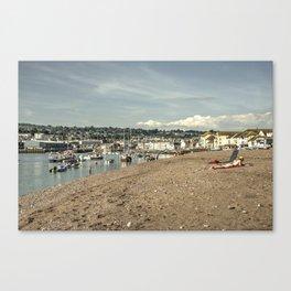 Teignmouth Summer  Canvas Print