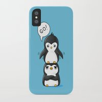 penguins iPhone & iPod Cases featuring Penguins by Freeminds