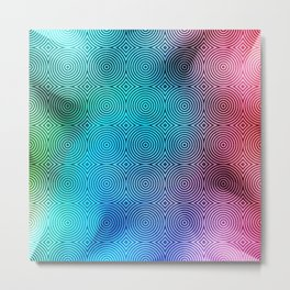 Colourful Circles Background Metal Print