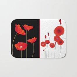 Flaming Poppies Bath Mat