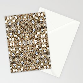 jewelry gemstone silver champagne gold crystal Stationery Cards