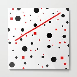 black and white meets red Version 3 Metal Print