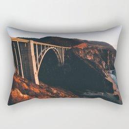 Sunburnt Bixby Bridge - Big Sur, California Rectangular Pillow