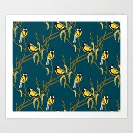 view in the garden Art Print