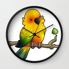 Aska the Sun Conure Wall Clock