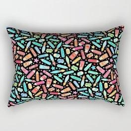Rainbow Stationary and Art Supplies - Black Rectangular Pillow