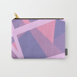 Pastel Pink and Purple Modern Geometric Lines Carry-All Pouch