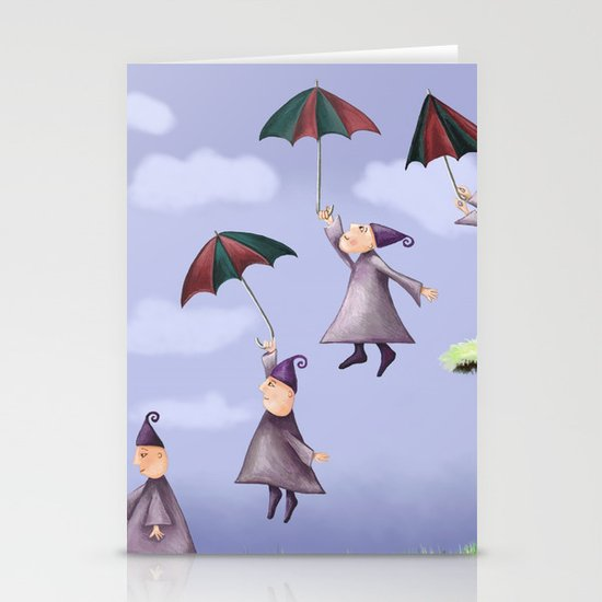 Floating Down Stationery Cards