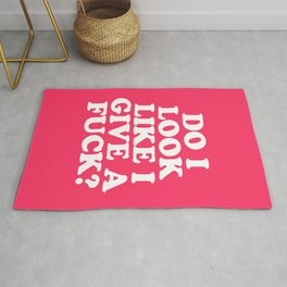 Give A Fuck Funny Quote Rug