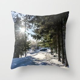Snow Is Here Throw Pillow