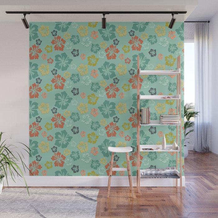 Hibiscus Love Wall Mural