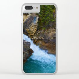 Beauty Creek & Stanley Waterfalls in Jasper National Park, Canada Clear iPhone Case