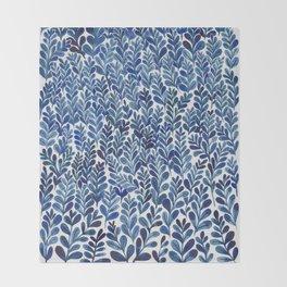 Indigo blues Throw Blanket