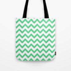 funky chevron mint pattern Tote Bag