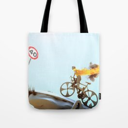 Yellow Jersey Tote Bag