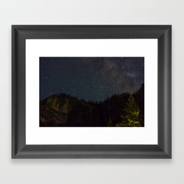 The Milky Way Above Yosemite Valley Framed Art Print